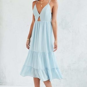 Kimchi Blue Women's Blue Midi Dress size 0